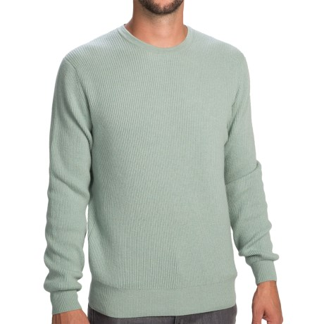 Johnstons of Elgin Cashmere Cardigan Stitch Sweater (For Men) in Eau De Nil