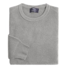 Johnstons of Elgin Cashmere Cardigan Stitch Sweater (For Men) in Flint - Closeouts