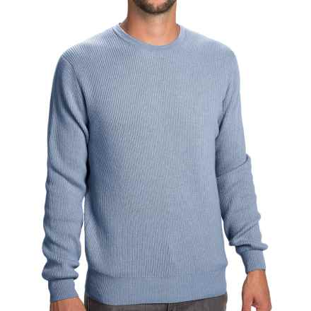 Johnstons of Elgin Cashmere Cardigan Stitch Sweater (For Men) in Fresco - Closeouts