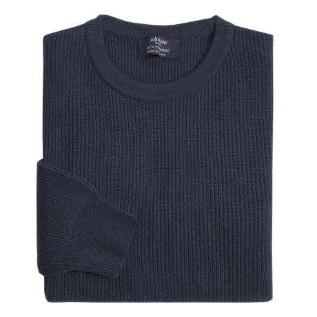 Johnstons of Elgin Cashmere Cardigan Stitch Sweater (For Men) in Midnight