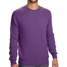 Johnstons of Elgin Cashmere Cardigan Stitch Sweater (For Men) in Purple Heather - Closeouts