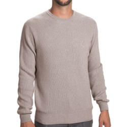 Johnstons of Elgin Cashmere Cardigan Stitch Sweater (For Men) in Zinc