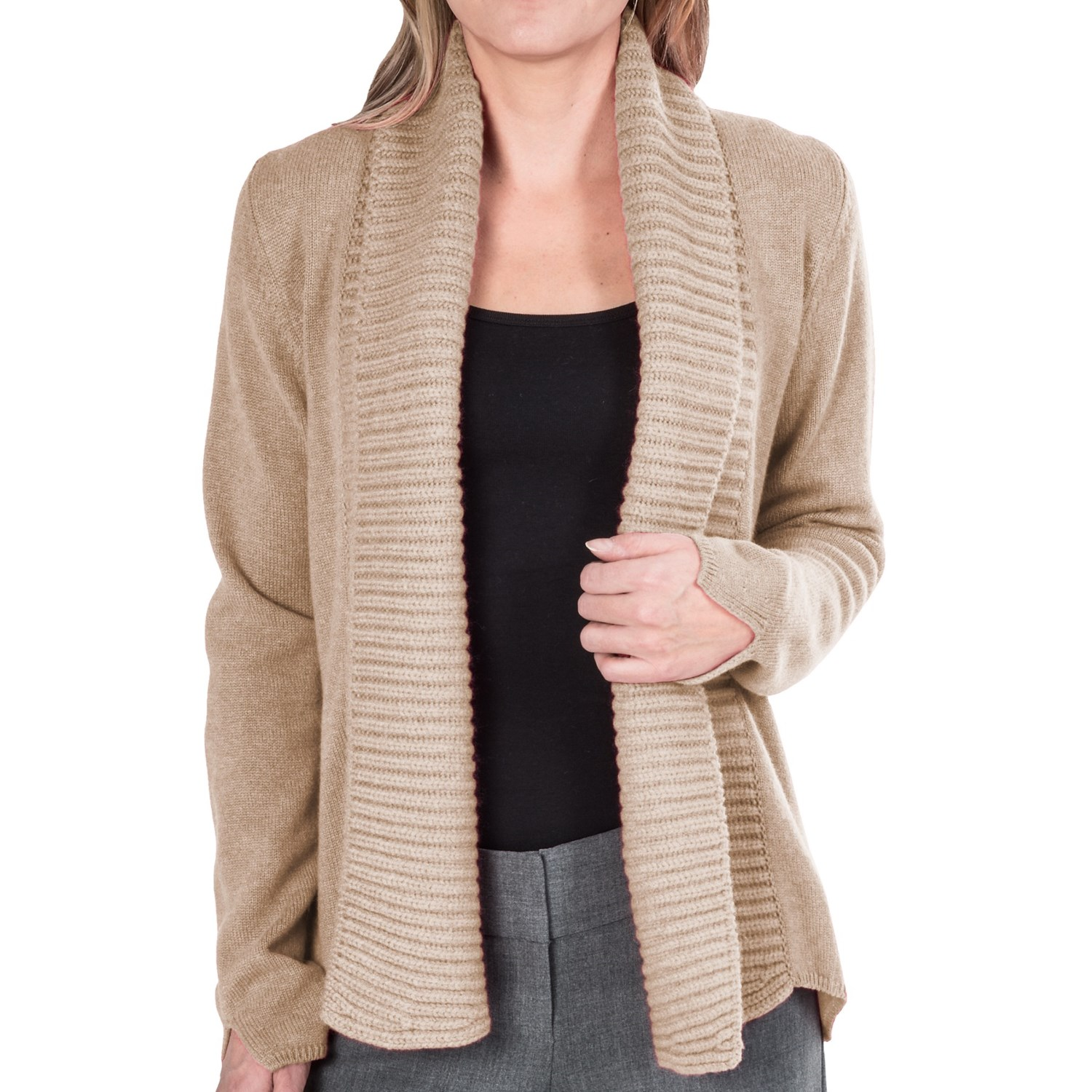 Women'S Cardigan Sweater Shawl Collar - Cardigan With Buttons