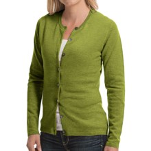 Johnstons of Elgin Cashmere Cardigan Sweater (For Women) in Moss - Closeouts