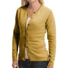Johnstons of Elgin Cashmere Cardigan Sweater (For Women) in Mustard - Closeouts