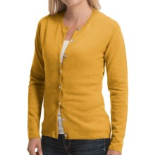 Johnstons of Elgin Cashmere Cardigan Sweater (For Women) in Sunflower - Closeouts