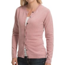 Johnstons of Elgin Cashmere Cardigan Sweater (For Women) in Tea Rose - Closeouts