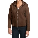 Johnstons of Elgin Cashmere Cardigan Sweater - Hooded (For Women)