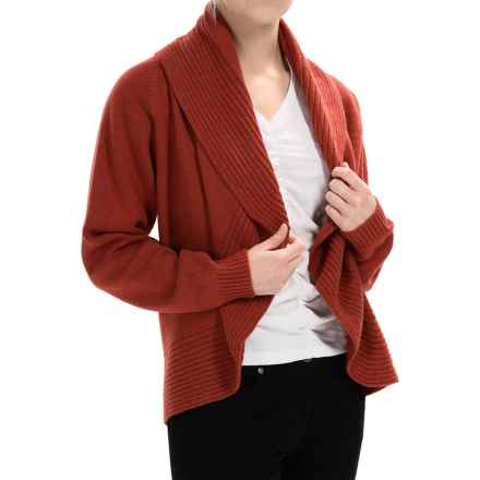 Johnstons of Elgin Cashmere Circle Cardigan Sweater (For Women) in Bracken - Closeouts