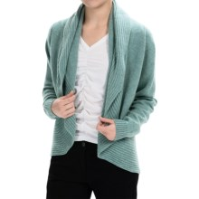Johnstons of Elgin Cashmere Circle Cardigan Sweater (For Women) in Cerulean - Closeouts