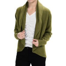 Johnstons of Elgin Cashmere Circle Cardigan Sweater (For Women) in Olive - Closeouts