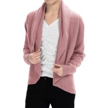 Johnstons of Elgin Cashmere Circle Cardigan Sweater (For Women) in Tea Rose - Closeouts