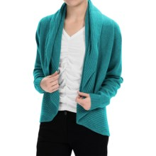 Johnstons of Elgin Cashmere Circle Cardigan Sweater (For Women) in Turquoise - Closeouts