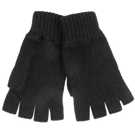 Johnstons of Elgin Cashmere Fingerless Gloves (For Women) in Black - Closeouts