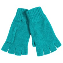 Johnstons of Elgin Cashmere Fingerless Gloves (For Women) in Glacier - Closeouts