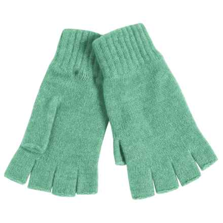 Johnstons of Elgin Cashmere Fingerless Gloves (For Women) in Ivy - Closeouts