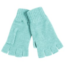Johnstons of Elgin Cashmere Fingerless Gloves (For Women) in Peppermint - Closeouts