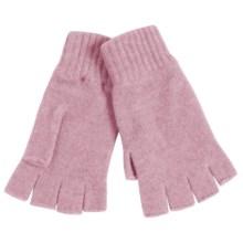 Johnstons of Elgin Cashmere Fingerless Gloves (For Women) in Rose - Closeouts
