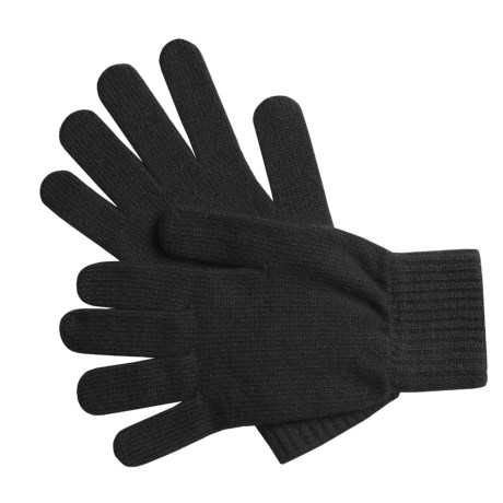 Johnstons of Elgin Cashmere Gloves (For Women) in Black