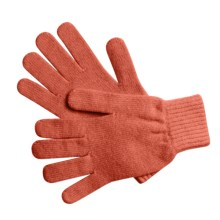 Johnstons of Elgin Cashmere Gloves (For Women) in Coral Pink - Overstock