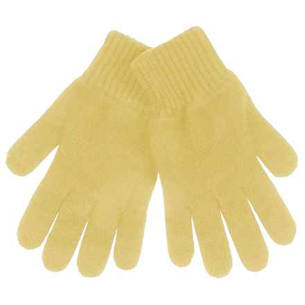 Johnstons of Elgin Cashmere Gloves (For Women) in Daffodil - Closeouts