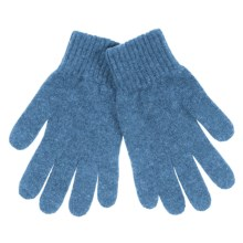 Johnstons of Elgin Cashmere Gloves (For Women) in Flannel - Closeouts