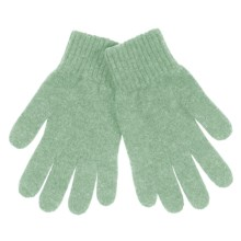 Johnstons of Elgin Cashmere Gloves (For Women) in Ivy - Closeouts