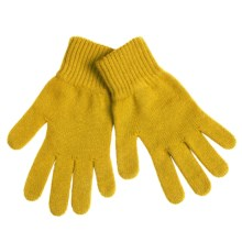 Johnstons of Elgin Cashmere Gloves (For Women) in Mustard - Overstock