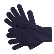 Johnstons of Elgin Cashmere Gloves (For Women) in Navy - Overstock