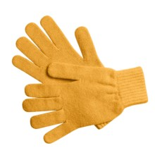 Johnstons of Elgin Cashmere Gloves (For Women) in Pollen - Overstock