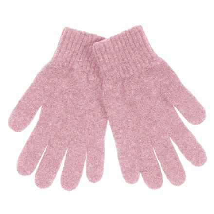 Johnstons of Elgin Cashmere Gloves (For Women) in Rose - Closeouts