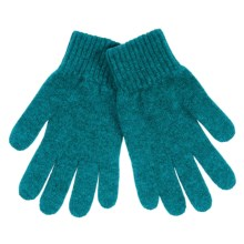 Johnstons of Elgin Cashmere Gloves (For Women) in Teal - Closeouts