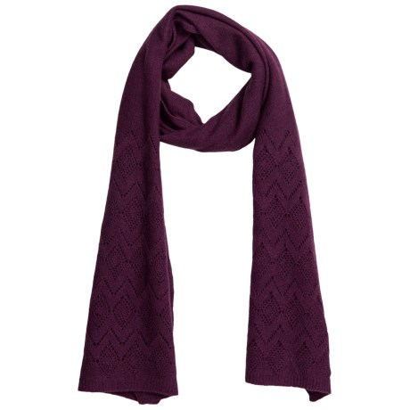 Johnstons of Elgin Cashmere Pointelle Scarf (For Women) in Berry