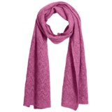 Johnstons of Elgin Cashmere Pointelle Scarf (For Women)