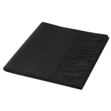 Johnstons of Elgin Cashmere Scarf (For Men and Women) in Black - Closeouts