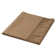 Johnstons of Elgin Cashmere Scarf (For Men and Women) in Camel - Closeouts