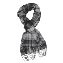 Johnstons of Elgin Cashmere Scarf (For Men and Women) in Grey Buchanan - Closeouts