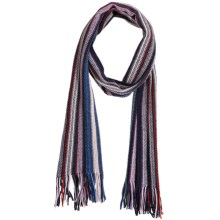 Johnstons of Elgin Cashmere Scarf (For Men and Women) in Lilac/Charcoal/Navy/Red/Turquoise - Closeouts
