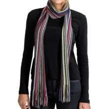 Johnstons of Elgin Cashmere Scarf (For Men and Women) in Multi Stripe - Closeouts