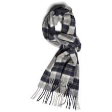 Johnstons of Elgin Cashmere Scarf (For Men and Women) in Silver Bannockbane - Closeouts