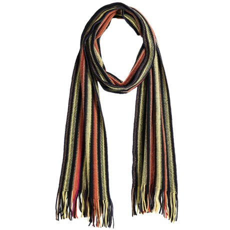 Johnstons of Elgin Cashmere Scarf (For Men and Women) in Yellow/Orange/Black