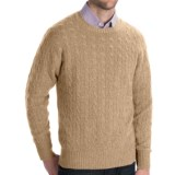 Johnstons of Elgin Cashmere Sweater - Cable Knit (For Men)