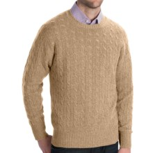 Johnstons of Elgin Cashmere Sweater - Cable Knit (For Men) in Oatmeal - Closeouts