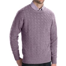 Johnstons of Elgin Cashmere Sweater - Cable Knit (For Men) in Pigeon - Closeouts
