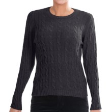 Johnstons of Elgin Cashmere Sweater (For Women) in Black - Closeouts