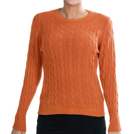 Johnstons of Elgin Cashmere Sweater (For Women) in Clementine
