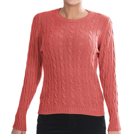 Johnstons of Elgin Cashmere Sweater (For Women) in Coral