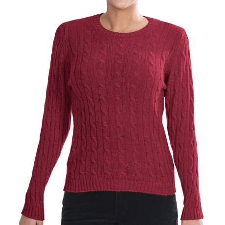 Johnstons of Elgin Cashmere Sweater (For Women) in Crimson