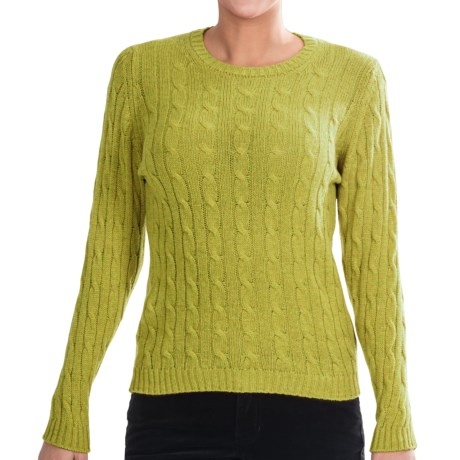 Johnstons of Elgin Cashmere Sweater (For Women) in Lizard