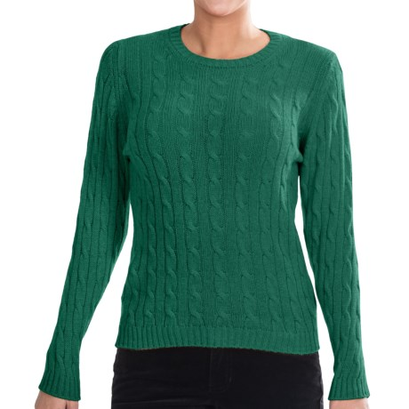 Johnstons of Elgin Cashmere Sweater (For Women) in Malachite